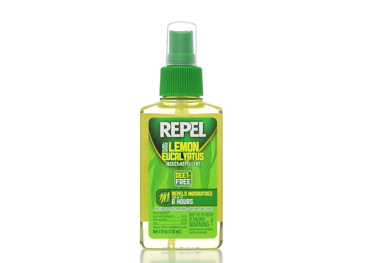 Repel Lemon Eucalyptus Natural Insect Repellent Pump Spray - 4-Ounce