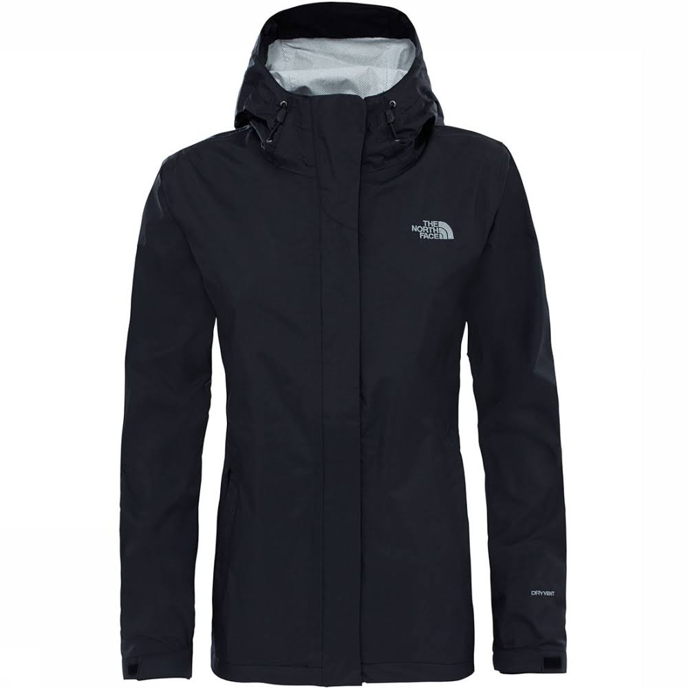 The North Face Women's Venture 2 Jacket Waterproof - Black, Large