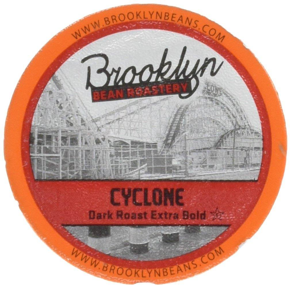 Brooklyn Bean Roastery Cyclone Single Serve Coffee Cup, Extra Bold Cyclone - 24 count