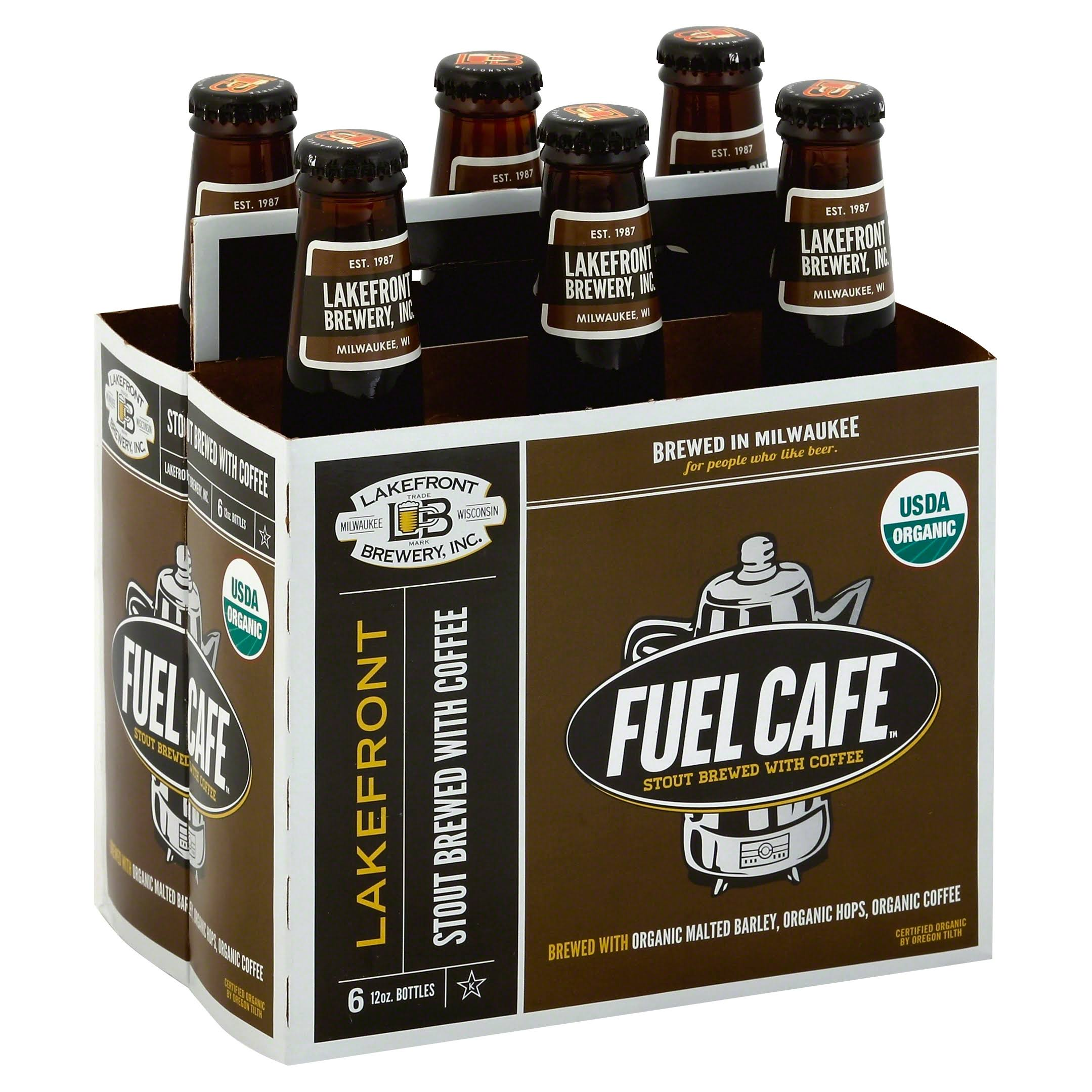Lakefront Brewery Stout, Fuel Cafe - 6 pack, 12 oz bottles