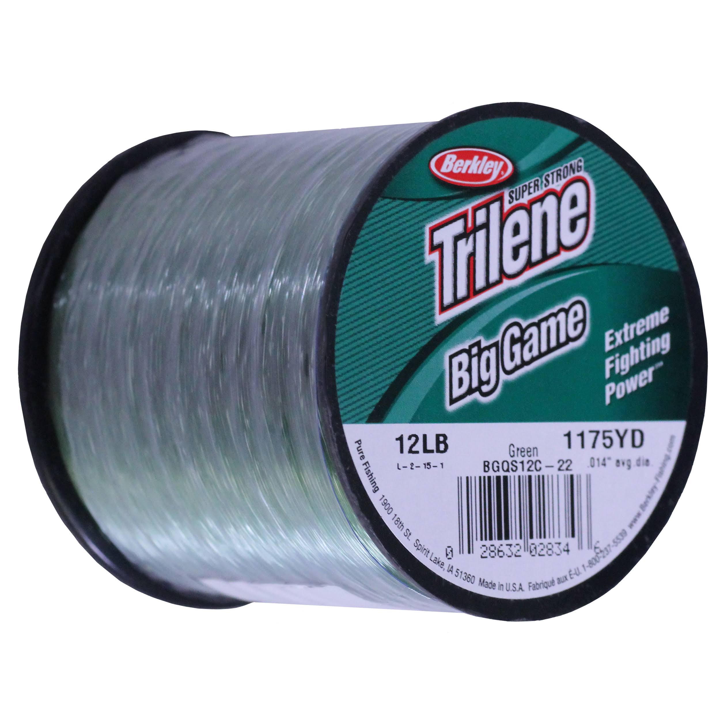 Berkley Trilene Big Game Mono Fishing Line - Green, 12lbs, 1175yds