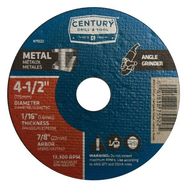 Century Drill and Tool Metal Wheel - 4-1/2 in