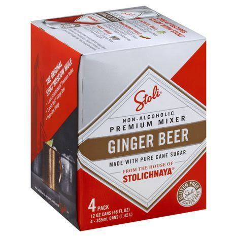 Stoli Ginger Beer Moscow Mule Non Alcoholic Beverage - 4pk, 12oz