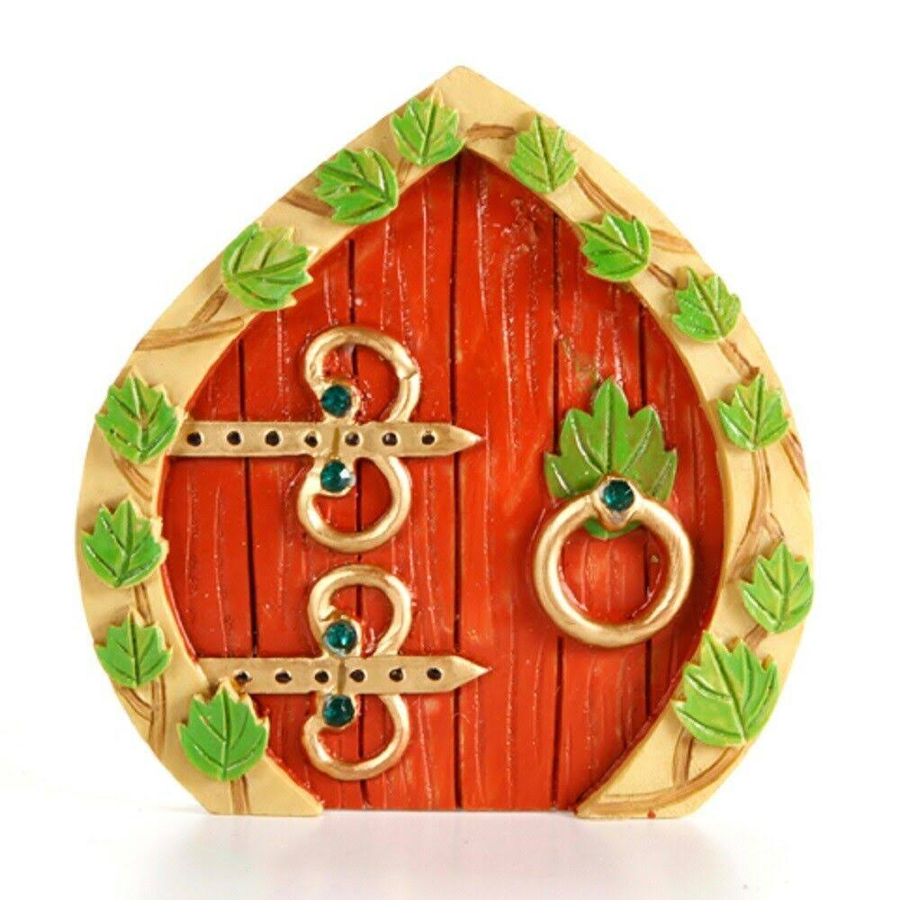 Darice Resin Fairy Garden Door 3.75 x 3.875 x .375 Inches