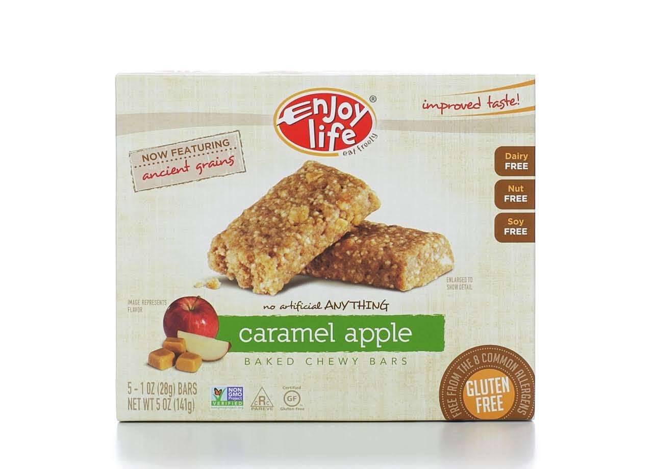 Enjoy Life Baked Chewy Bars - Caramel Apple, 5ct, 28g