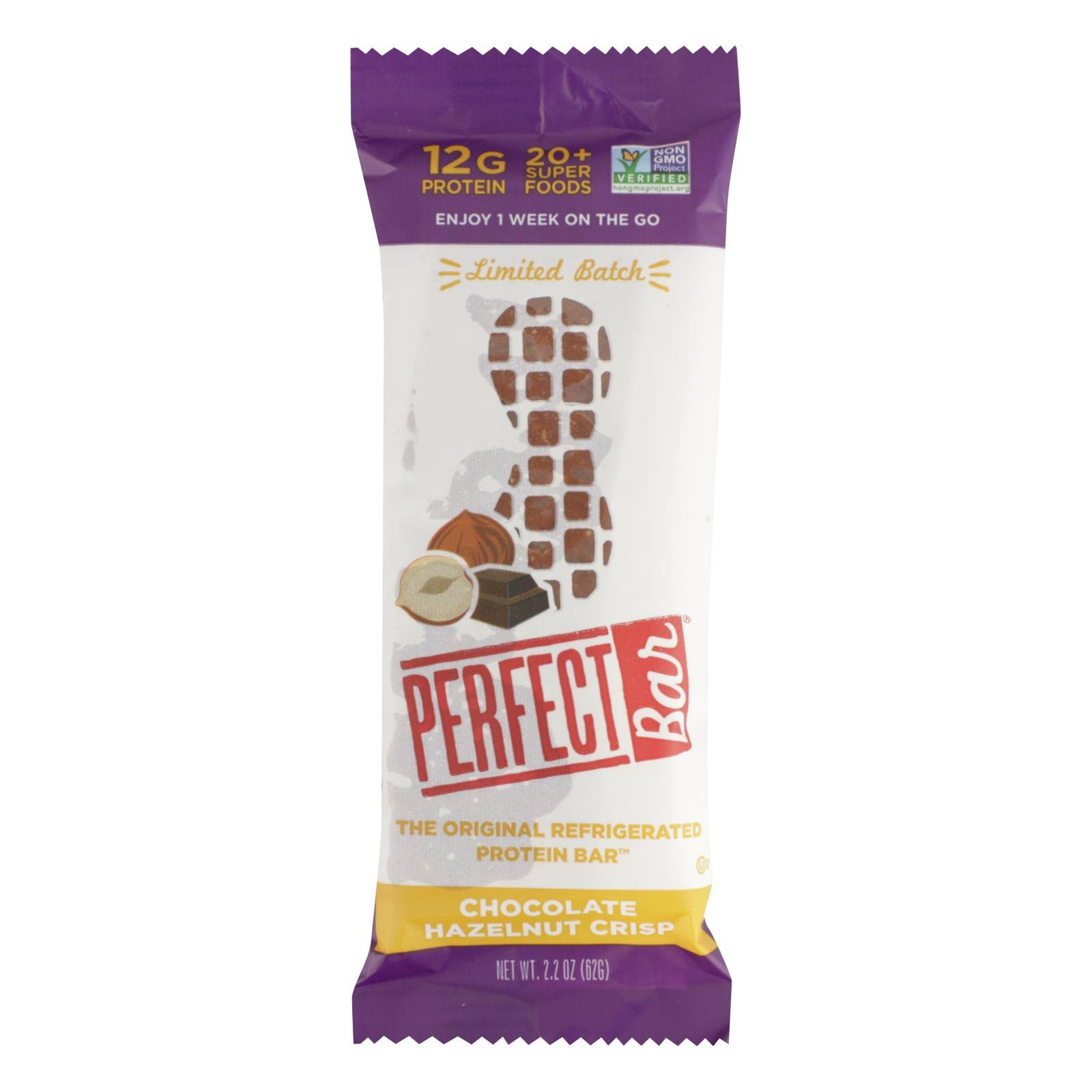 Perfect Foods: Chocolate Hazelnut Crisp Bar, 2.20 oz