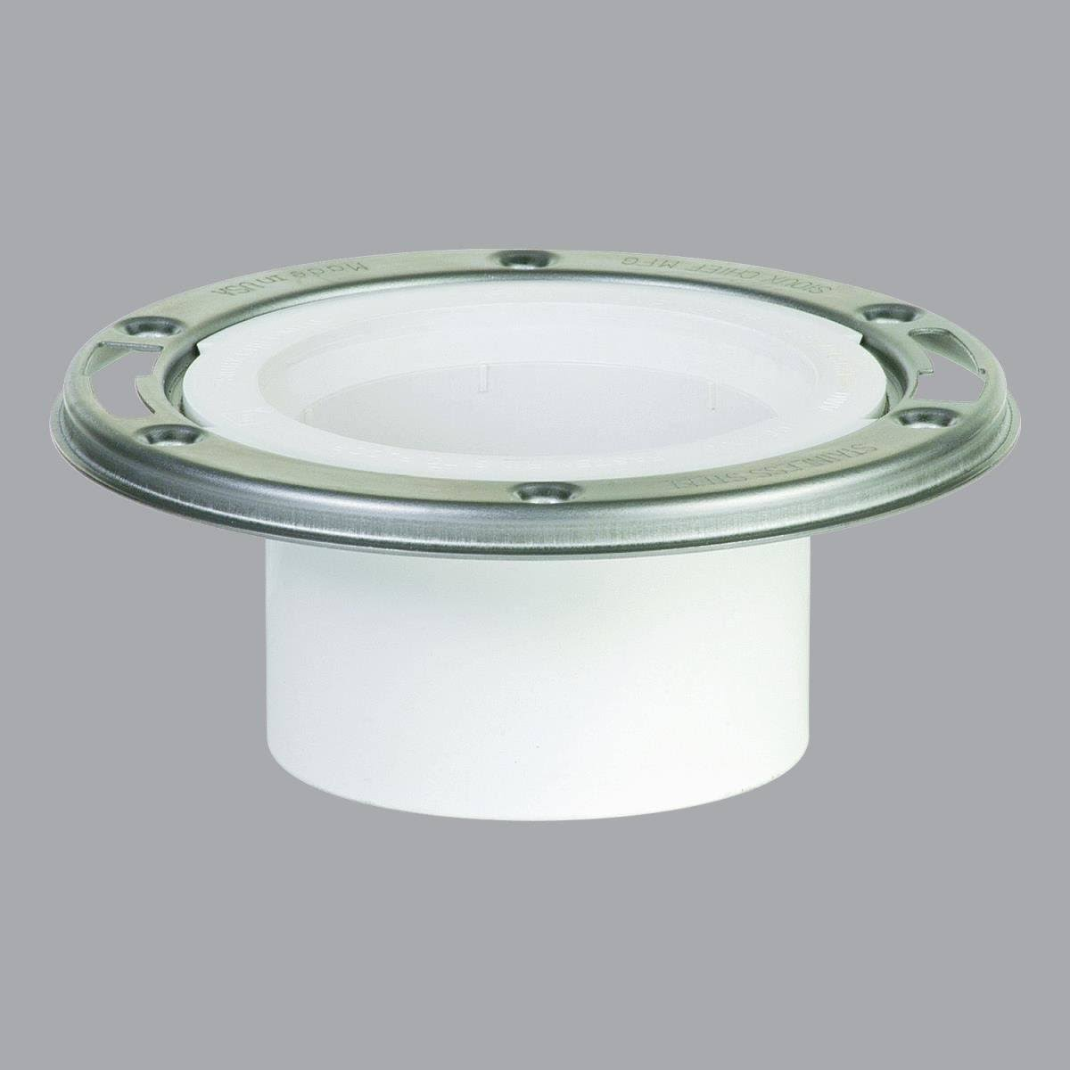 Sioux Chief Open PVC Closet Flange with Stainless Steel Ring