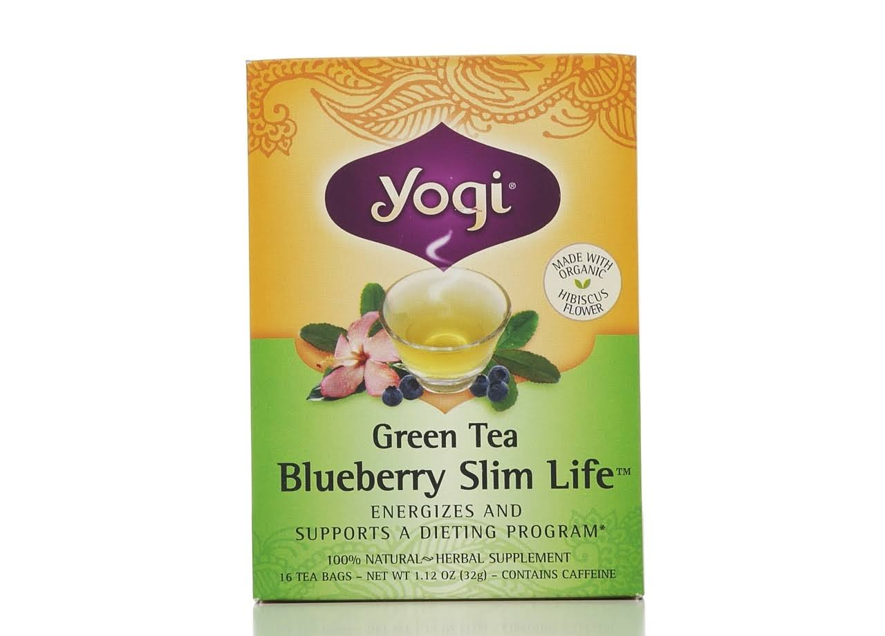 Yogi Blueberry Slim Life Green Tea - 16 Tea Bags