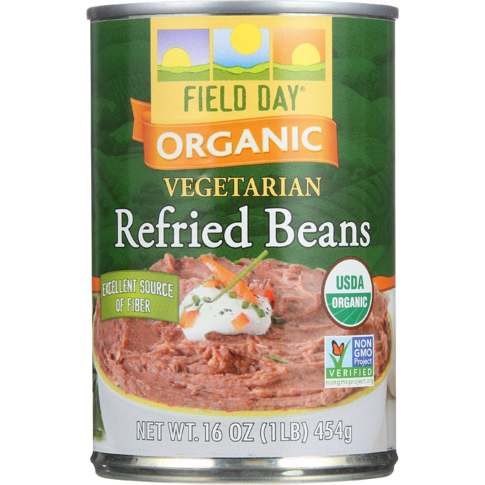 Field Day Beans - Organic - Vegetarian - Refried - Pinto - 15 oz