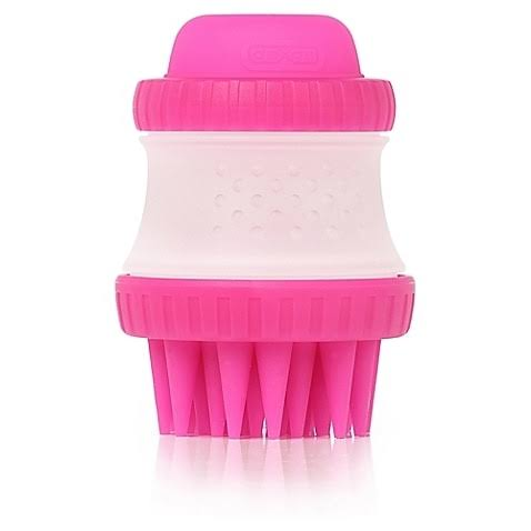 Dexas ScrubBuster Silicone Dog Washing Brush in Pink