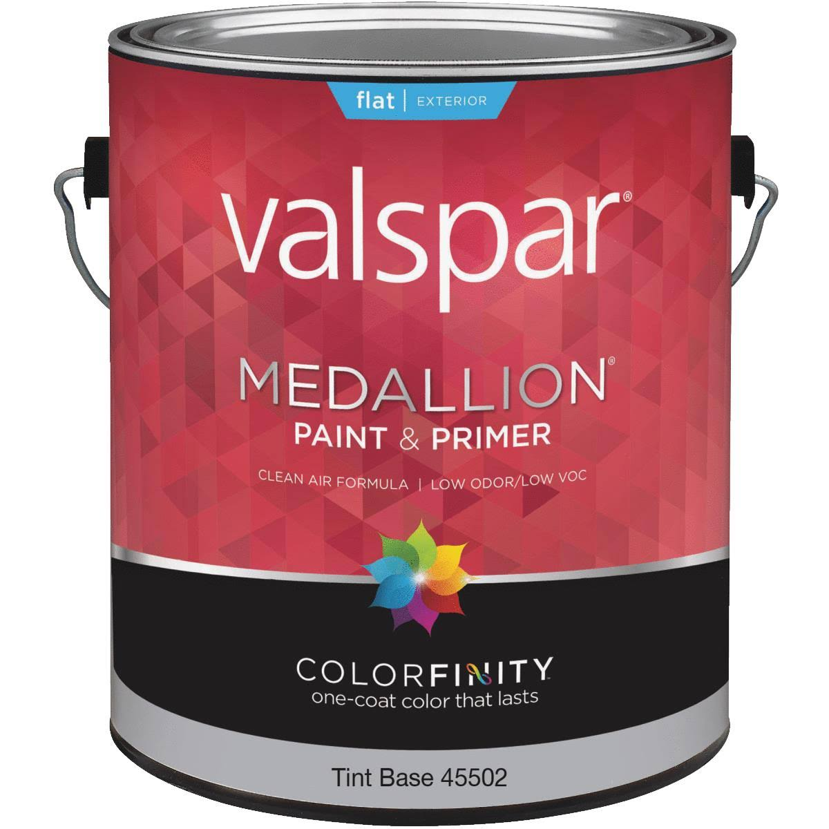 Valspar Medallion 100% Acrylic Exterior Flat Latex House Paint - 1gal