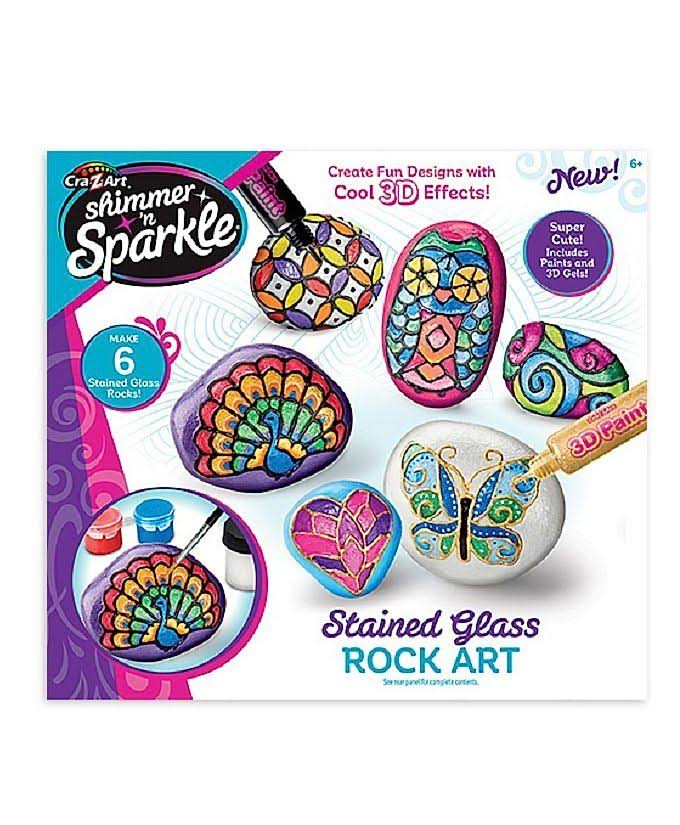 Cra-Z-Art Shimmer 'N Sparkle Stained Glass Rock Art - 17888