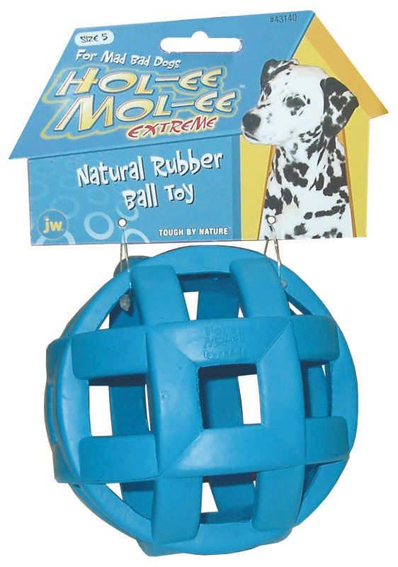 Jw Pet Company DJW43140 Hol-ee Mol-ee Extreme Natural Rubber Ball Toy