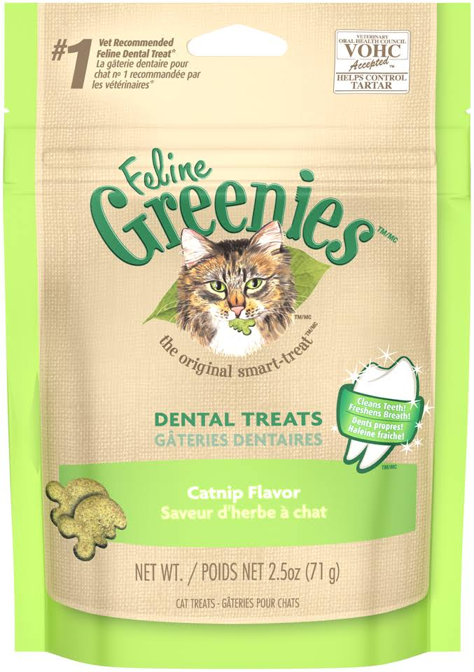 Greenies Feline Cat Dental Treat - Catnip, 71g
