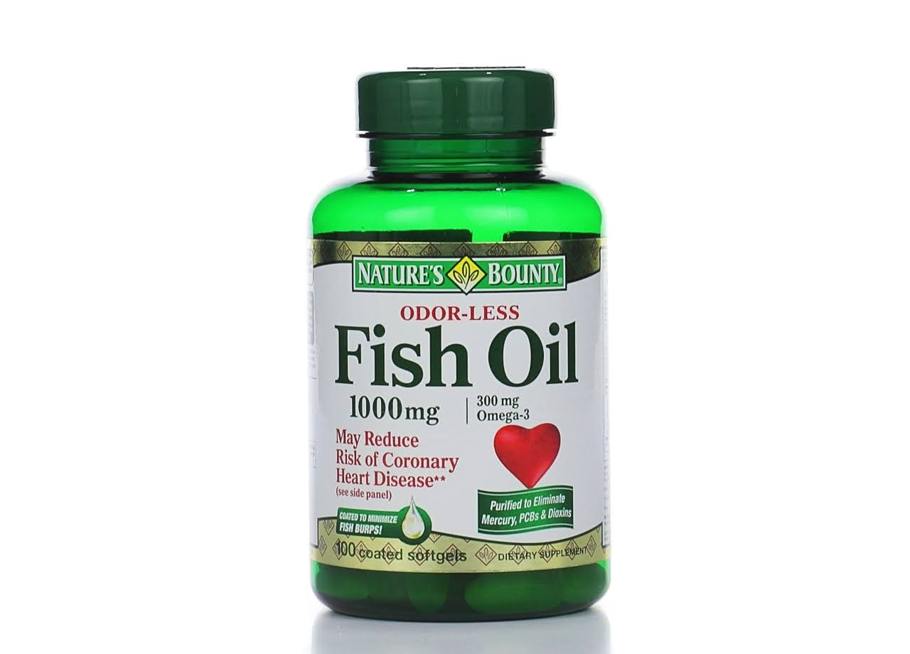 Nature's Bounty Omega-3 Fish Oil Supplement - 1000mg, 120 Coated Softgels