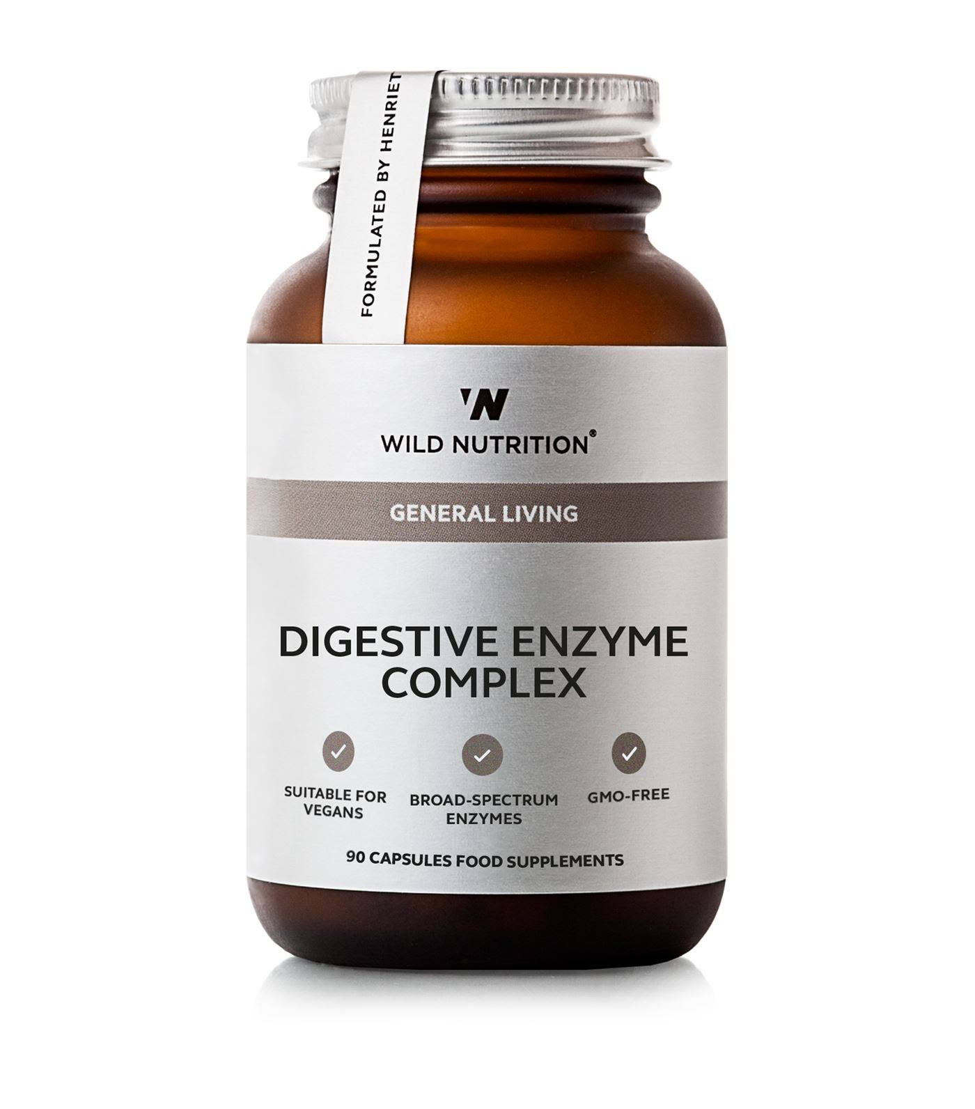 Wild Nutrition Digestive Enzyme Complex Food Supplement - 90 Capsules