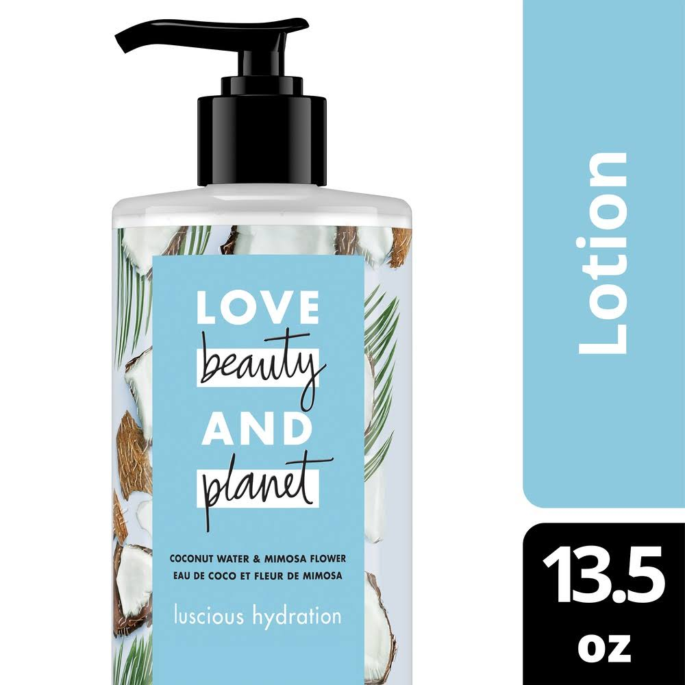 Love Beauty & Planet Body Lotion, Luscious Hydration, Coconut Water & Mimosa Flower - 13.5 fl oz