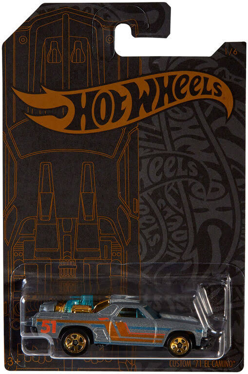 Hot Wheels Satin & Chrome Custom '71 El Camino Die-Cast Car #1/6