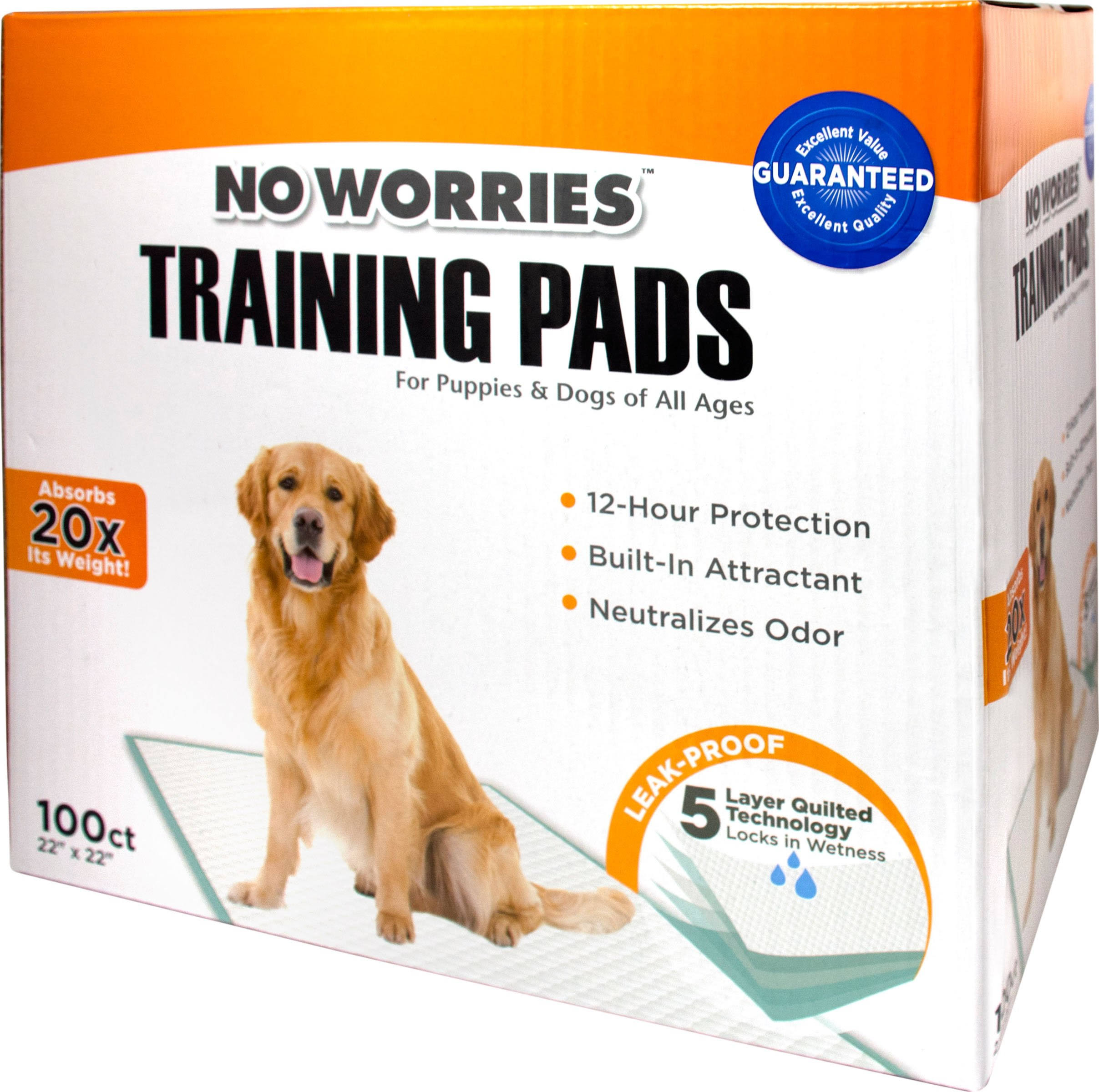No Worries Training Pads 100ct