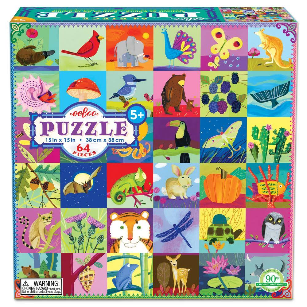 Eeboo Portraits of Nature Puzzle - 64pcs