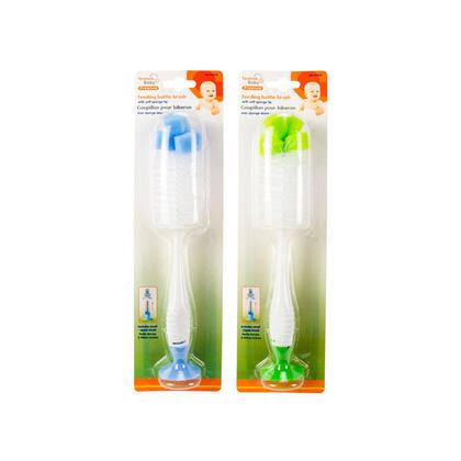 Tootsie Baby 2-in-1 Baby Bottle Brush 2pk Blue and Green