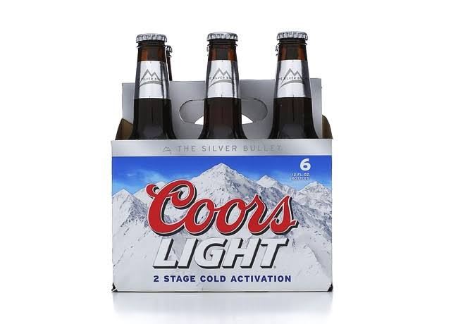 Coors Light Beer - 6 Bottles