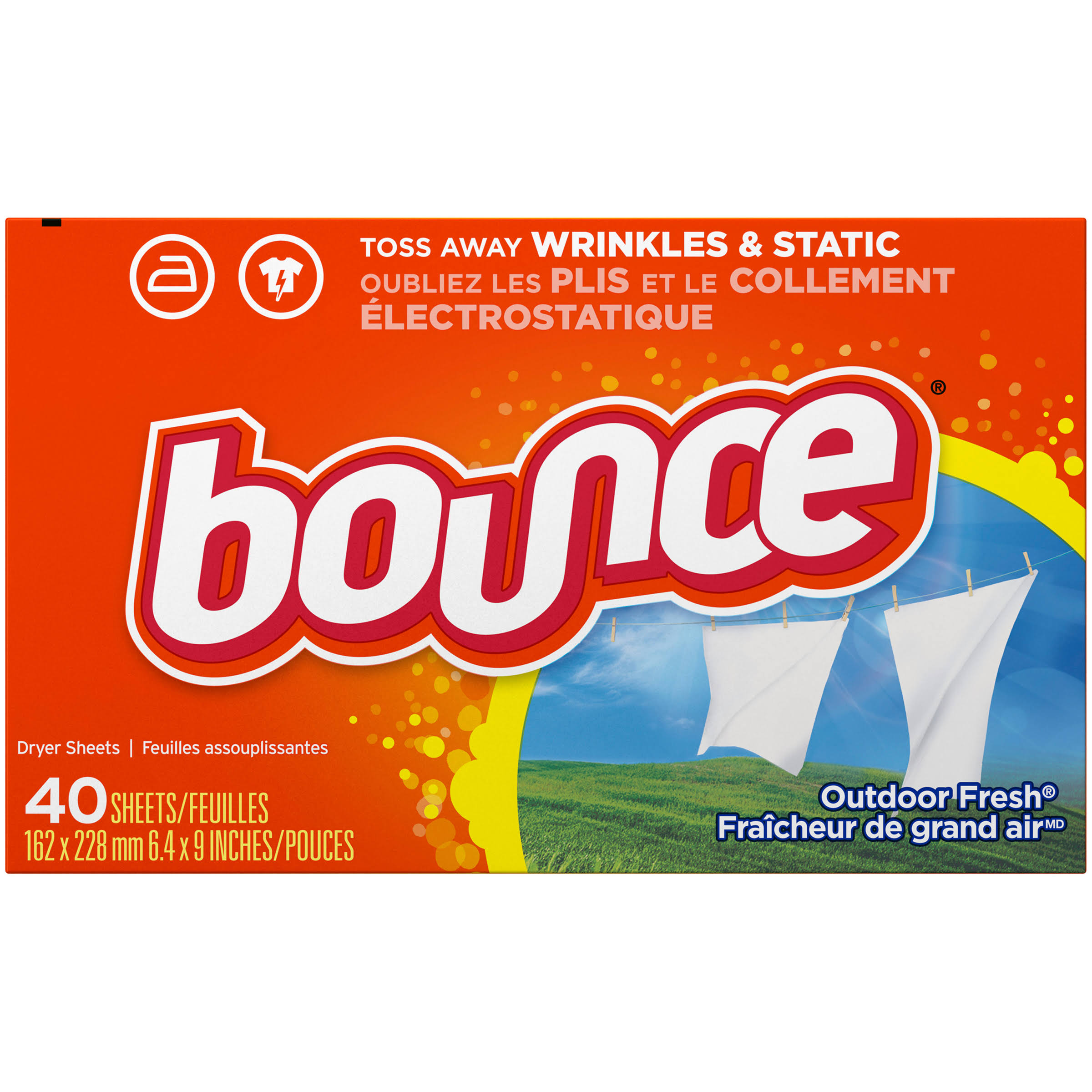 Bounce Outdoor Fresh Dryer Sheets - 40 Sheets