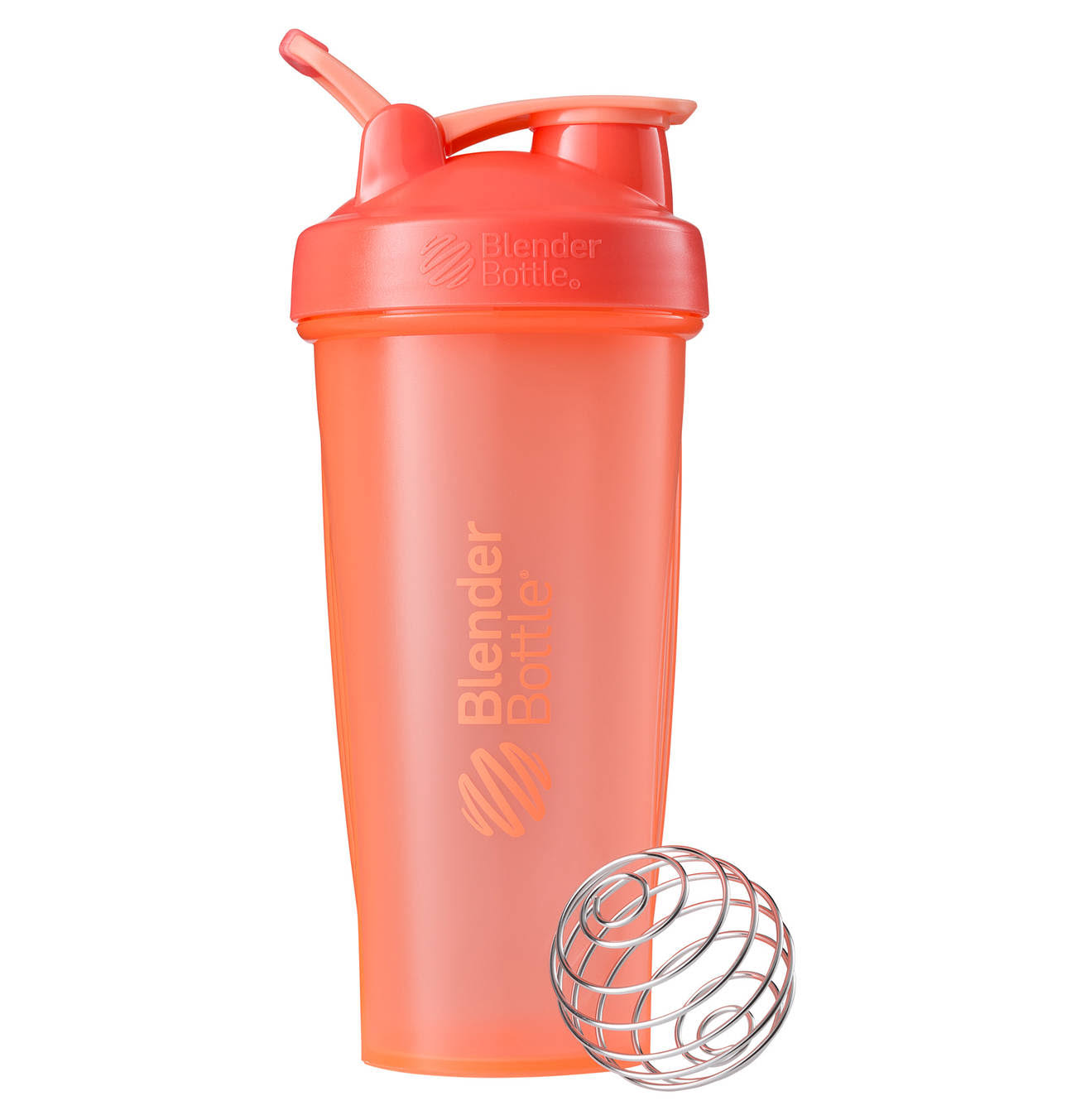 Blender Bottle Classic Shaker Protein Mixer Cup - Coral, 825ml