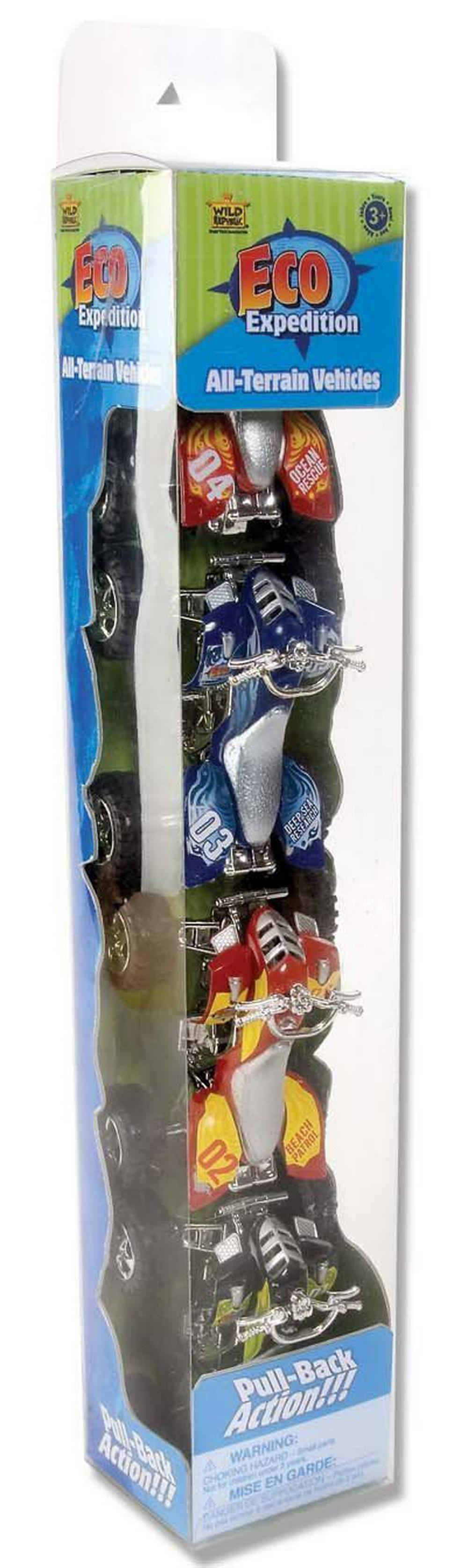 Wild Republic ATV Eco Expedition Tube Car Toy - 4pk