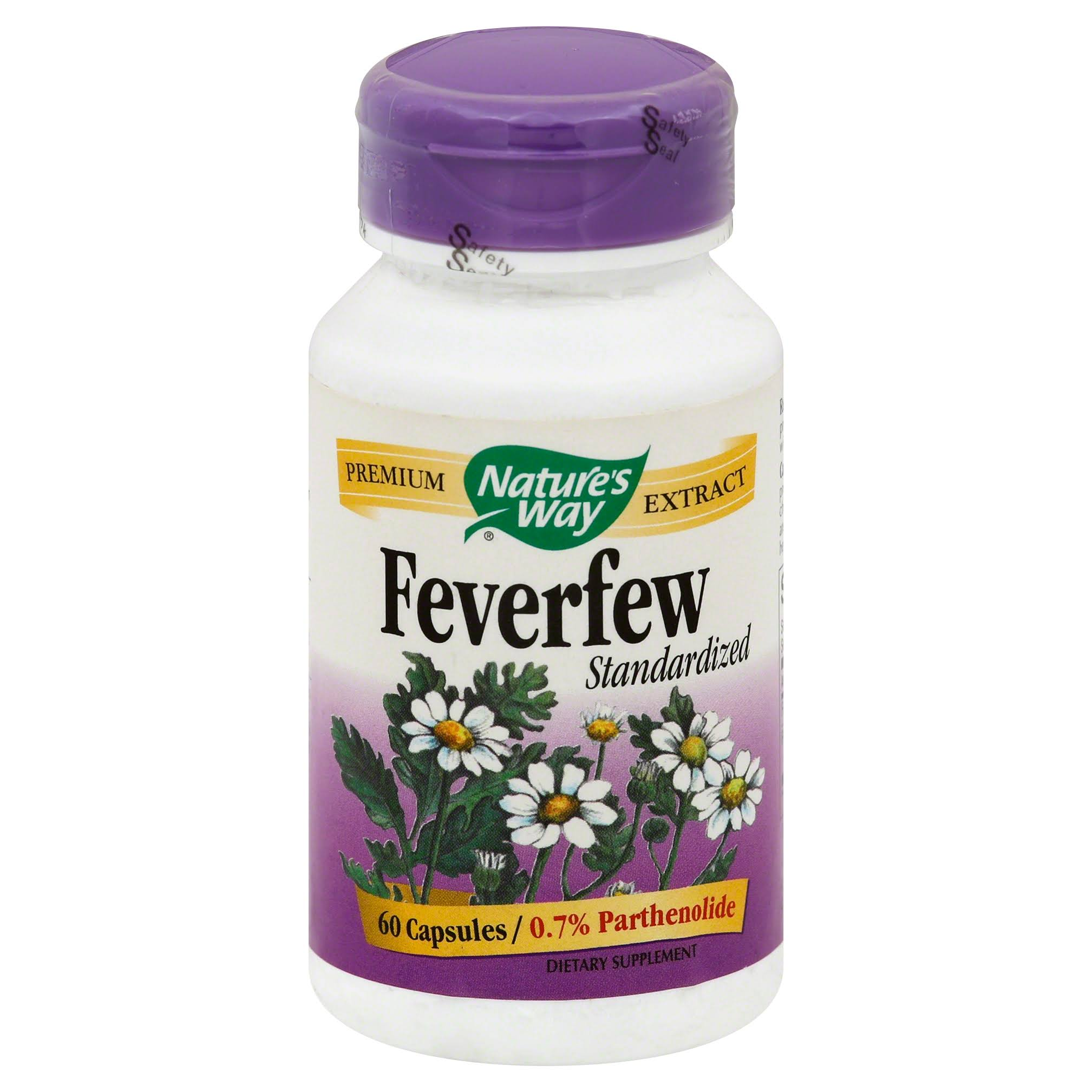 Nature's Way Feverfew Standardized Extract - 60 Capsules