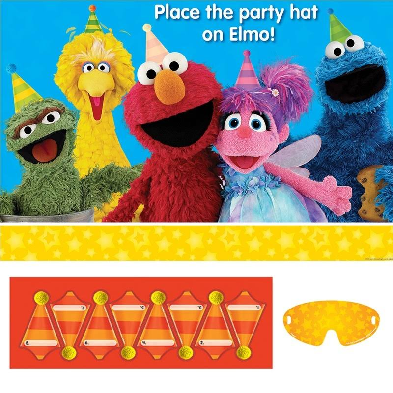 Amscan Sesame Street Place The Party Hat On Elmo Party Game