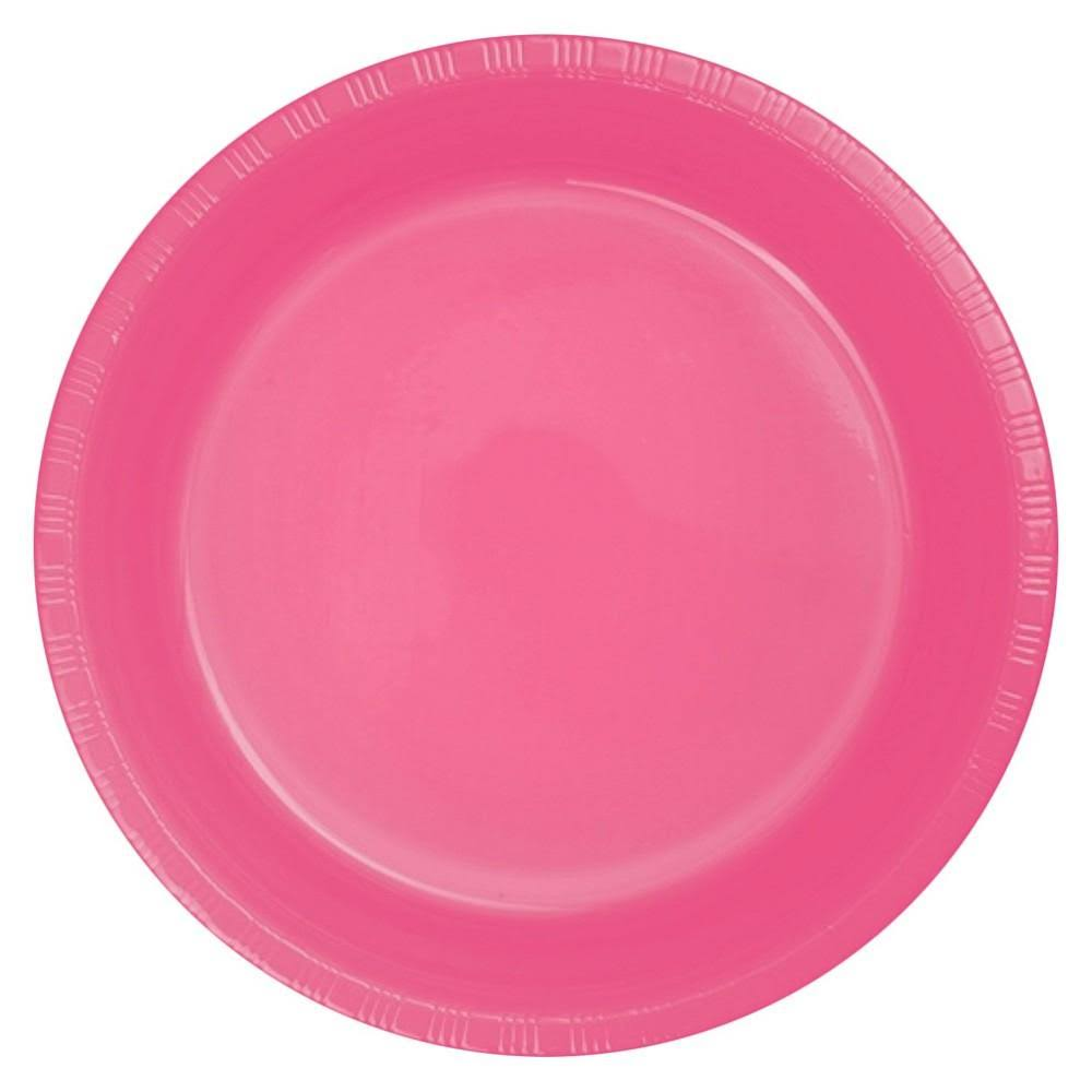 Creative Converting Touch of Color Plastic Lunch Plates - Candy Pink, 20ct