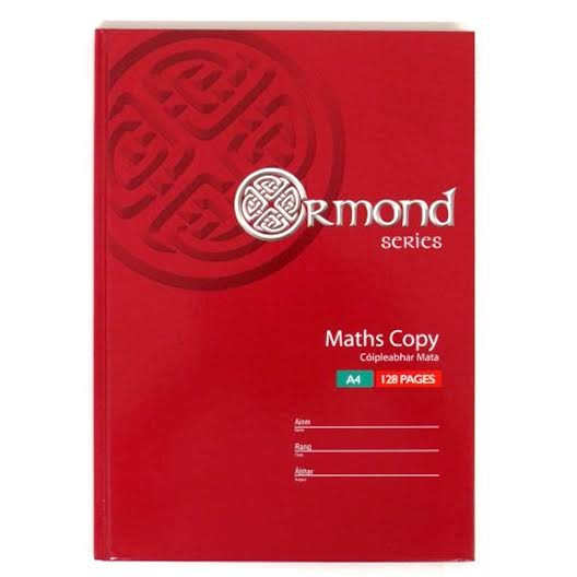 Ormond A4 Maths Copy - 128 Pages