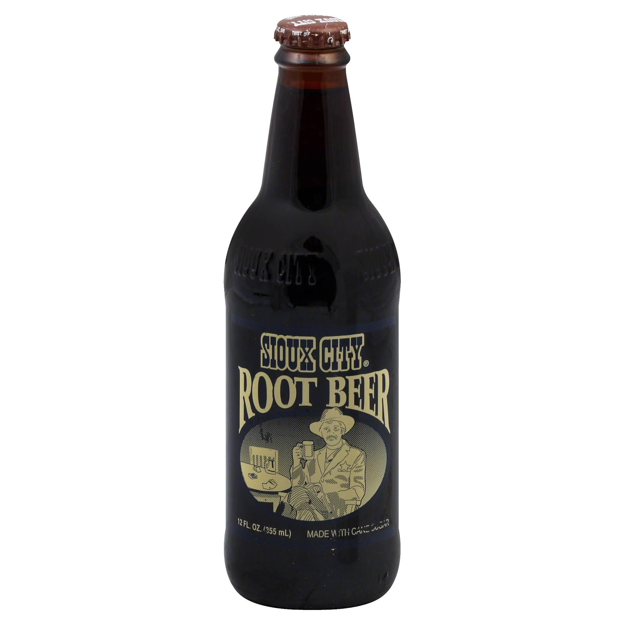Sioux City Cowboy Style Root Beer - 12oz