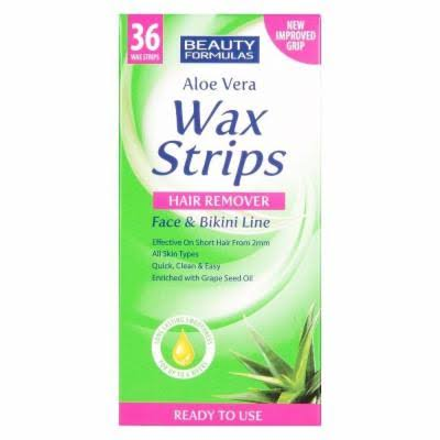 Beauty Formulas Hair Removal Wax Strips - 36 Strips