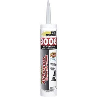 White Lightning Siliconized Acrylic Latex Adhesive Caulk - Clear, 10oz
