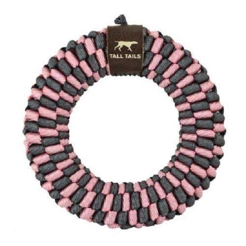 Tall Tails 88217076 CC Braided Ring Dog Toy Pink - 6 in.