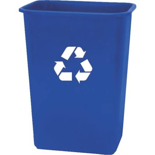 United Solutions Plastic Recycling Wastebasket - Blue, 41qt