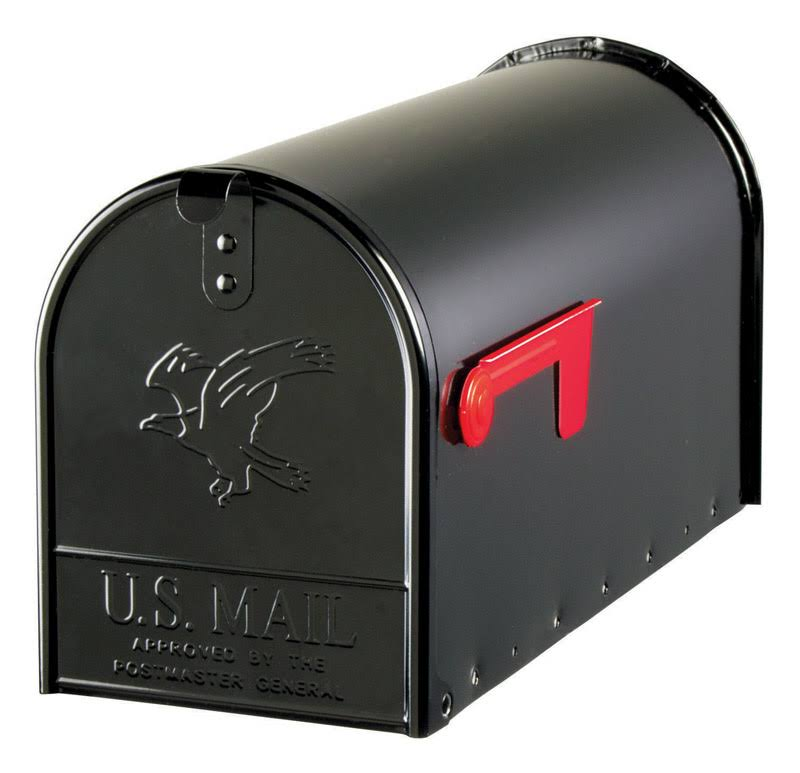 Solar Group Steel Post Mount Mailboxes - Black