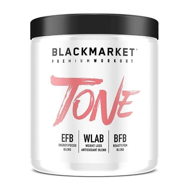 Blackmarket Labs Tone Women's Pre-Workout (Strawberry Kiwi - 30 Servings)