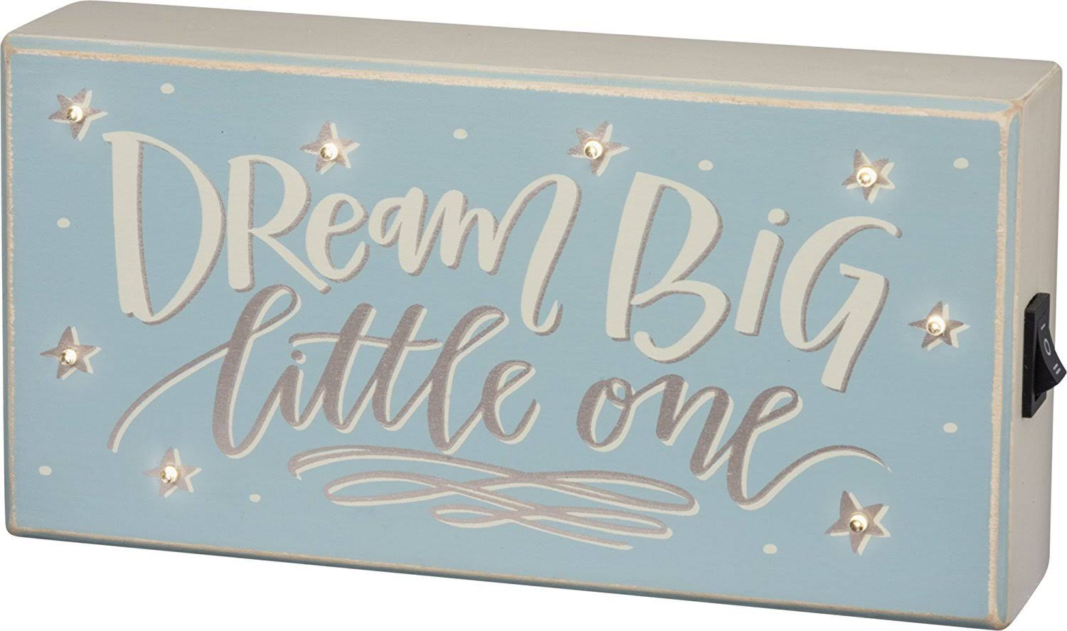 Primitives by Kathy Dream Big Led Box Sign - Blue