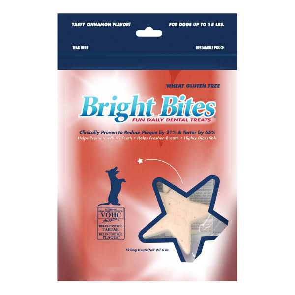 Bright Bites Daily Dental Tasty Small Dog Treats - Cinnamon, 9.6oz
