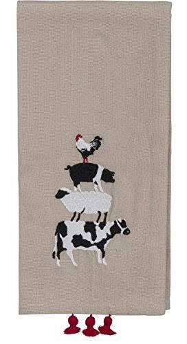 Primitives by Kathy - Dish Towel - Farm Animals
