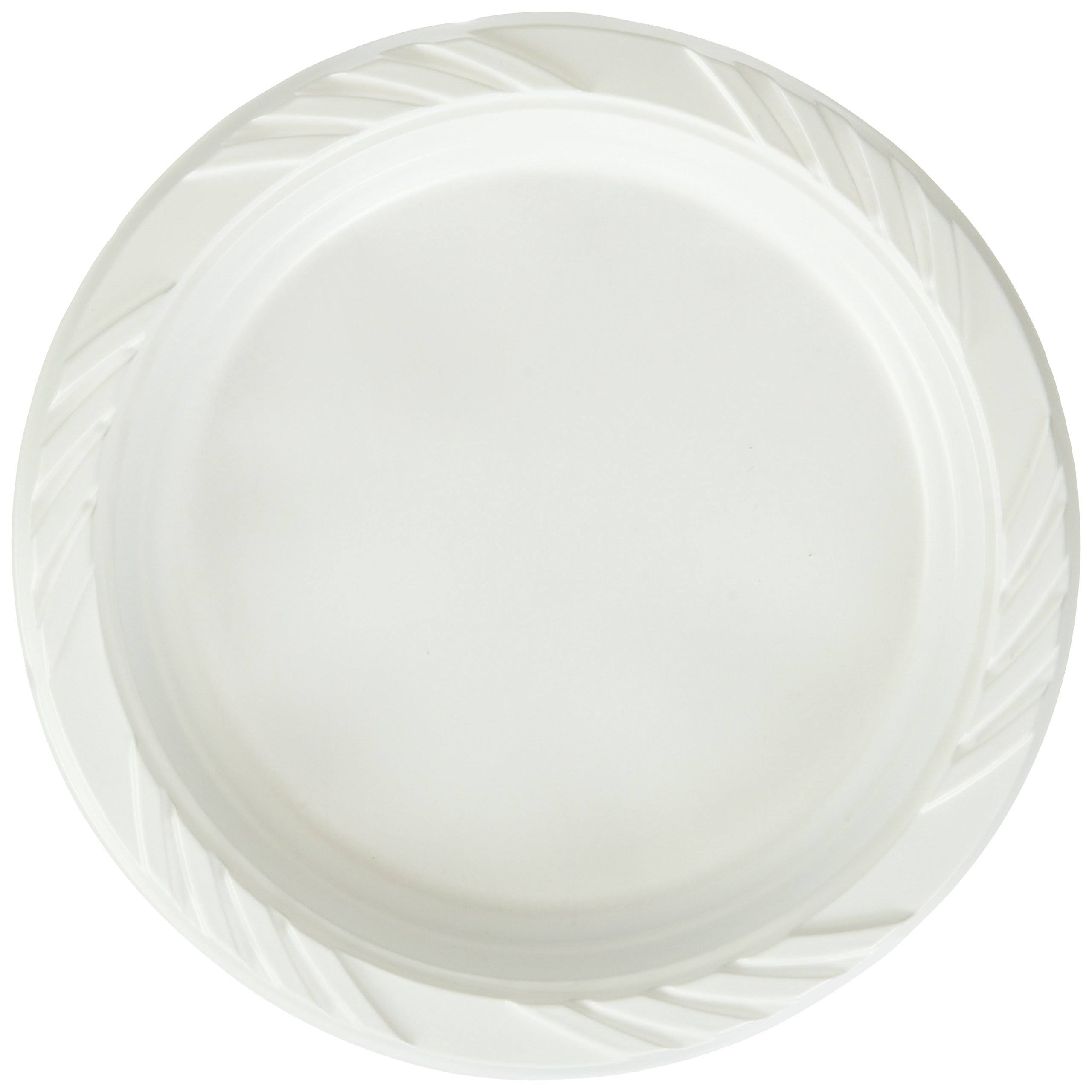 Blue Sky Disposable Plastic Plates - x100, 6in, White