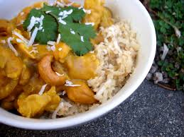 Thai Green Pumpkin Curry Recipe by Pumpkin Cashew Coconut Curry Over Coconut Rice