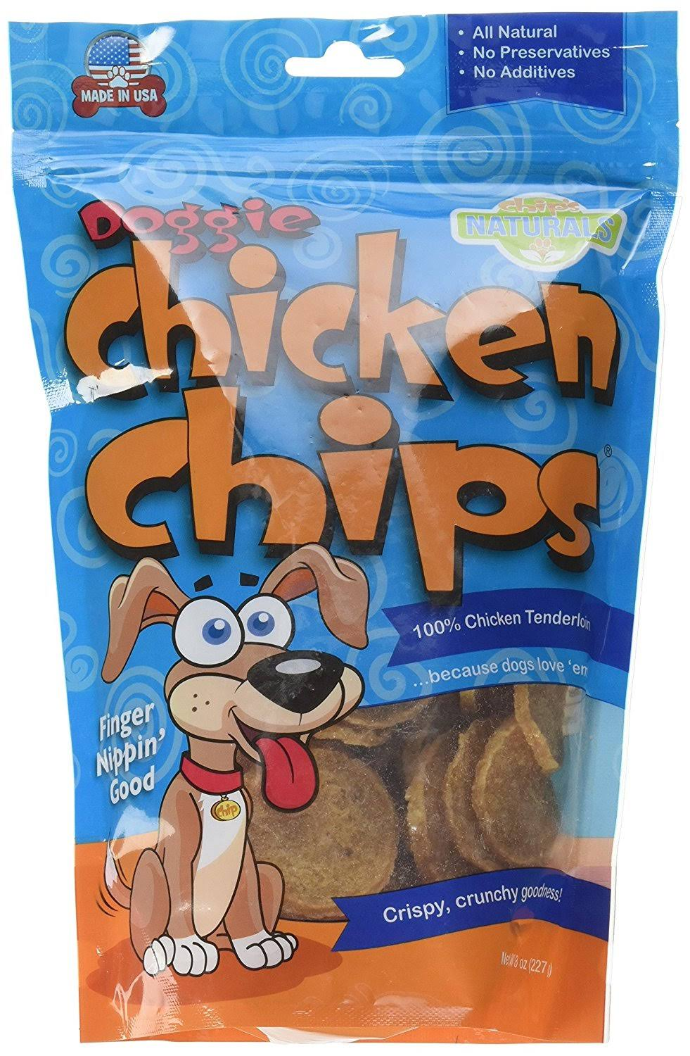 All Natural Chicken Chips- Dog Treats (Medium- 8 oz. Bag)
