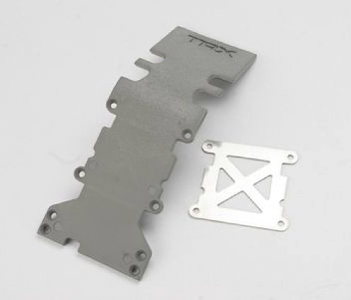 Traxxas 4938A E-maxx Brushless Rear Skid Plate - Grey