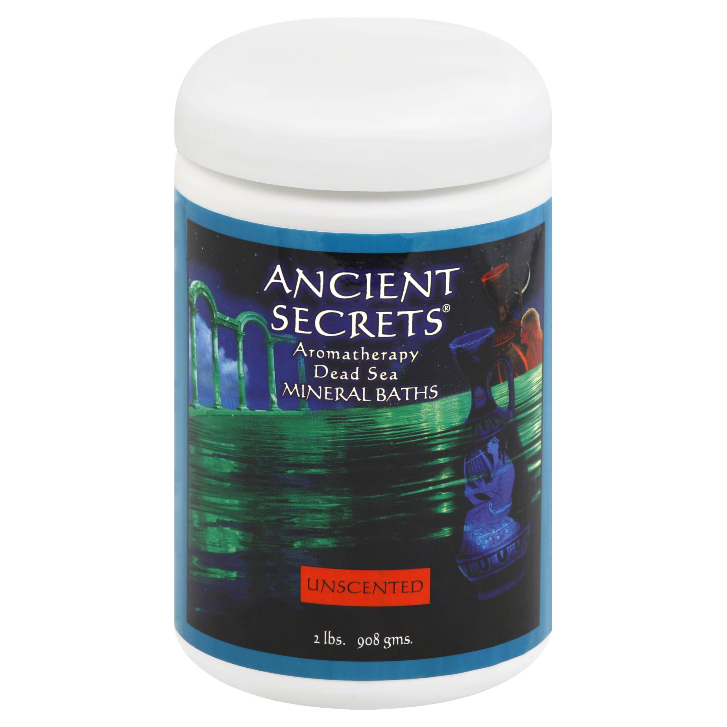 Ancient Secrets Aromatherapy Dead Sea Mineral Baths - Unscented, 2lbs