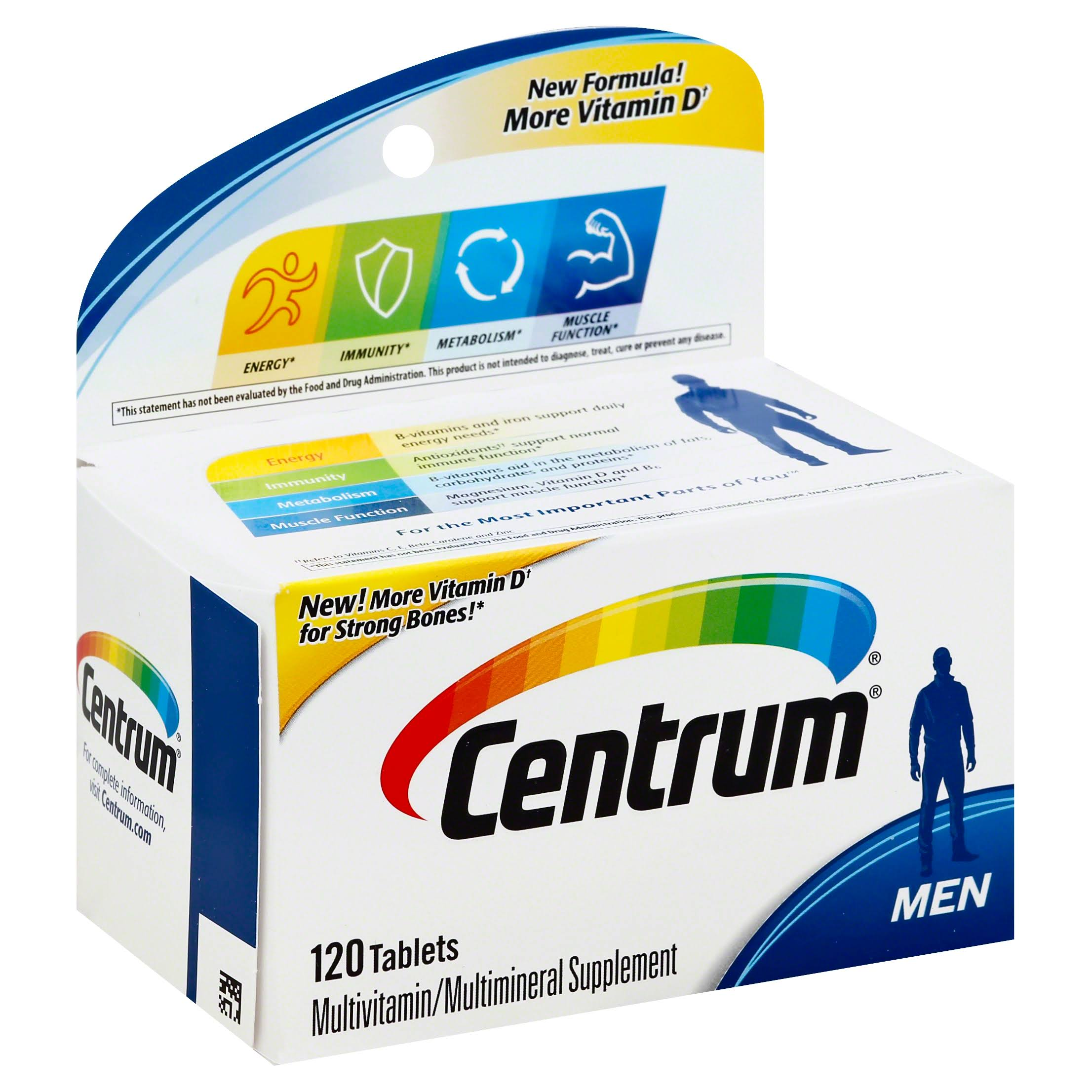 Centrum for Men Multivitamin & Multimineral Supplement - 120 Tablets