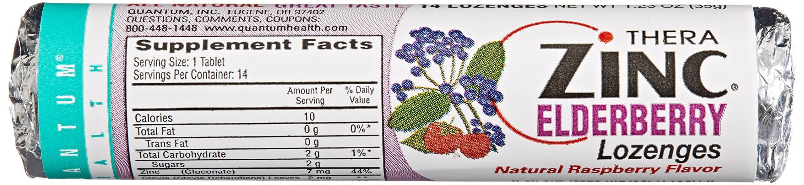 Quantum Health Zinc Elderberry Lozenges - Raspberry, 14ct, 12pk